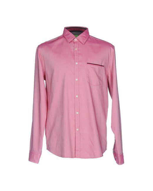 BOSS Green - Red Shirt for Men - Lyst
