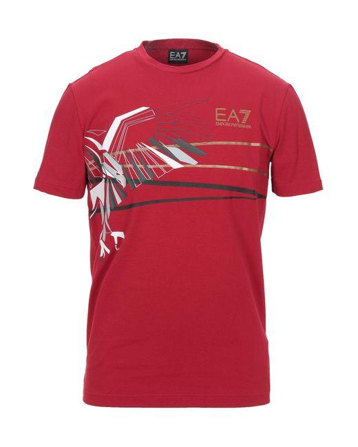EA7 T-shirts in Red für Herren