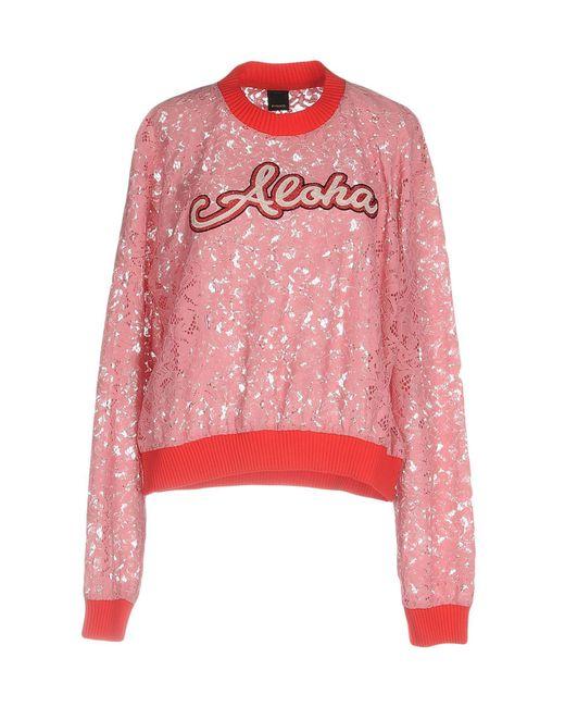 Pinko   Pink Sweatshirt   Lyst