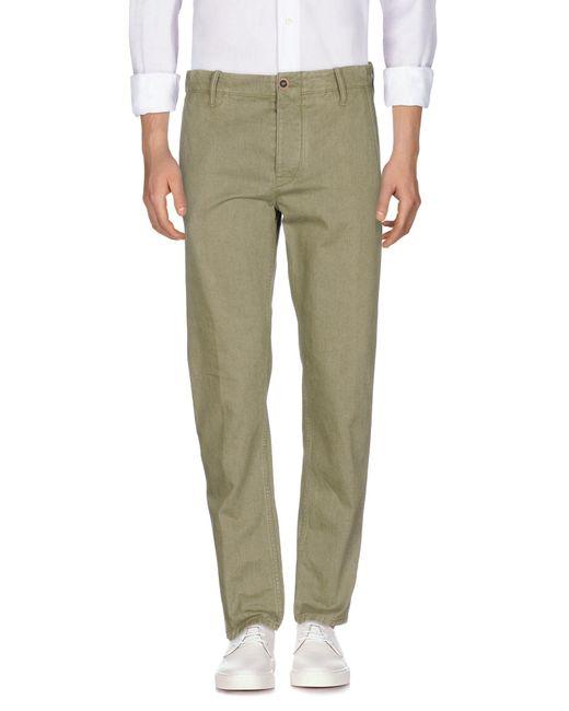 Incotex Green Denim Pants for men