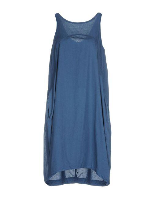 European Culture - Blue Knee-length Dress - Lyst