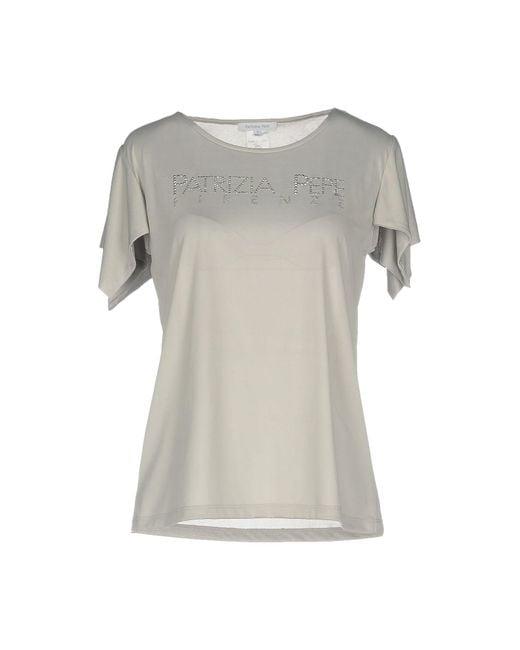 Patrizia Pepe - Gray T-shirts - Lyst