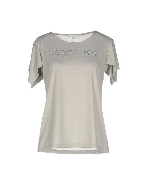 Patrizia Pepe - Gray T-shirt - Lyst