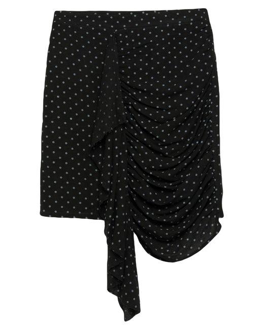 Odi Et Amo Black Knee Length Skirt