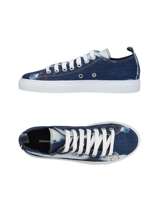 DSquared² - Blue Low-tops & Sneakers - Lyst