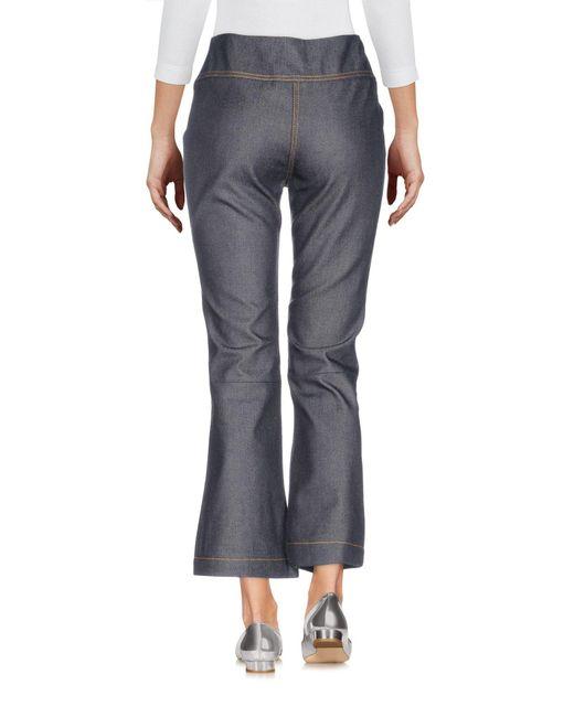 McQ Pantalon en jean femme de coloris bleu