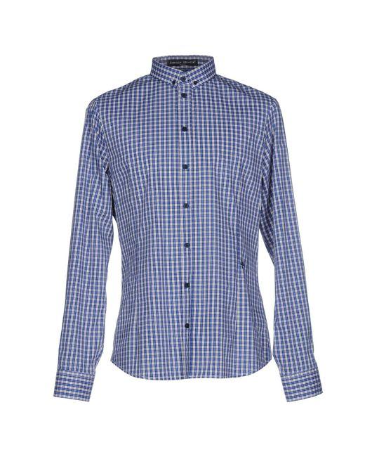 Frankie Morello - Blue Shirts for Men - Lyst