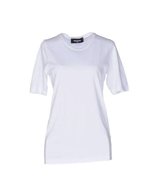 DSquared² - White T-shirt - Lyst