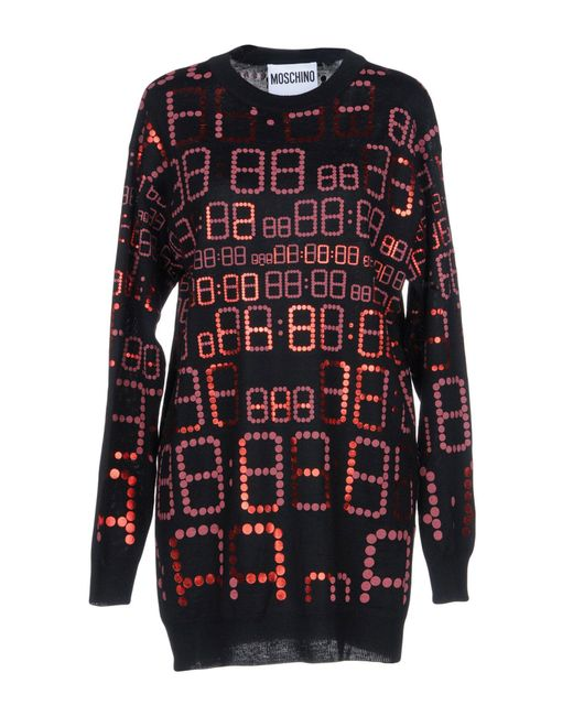Moschino - Red Sweaters - Lyst
