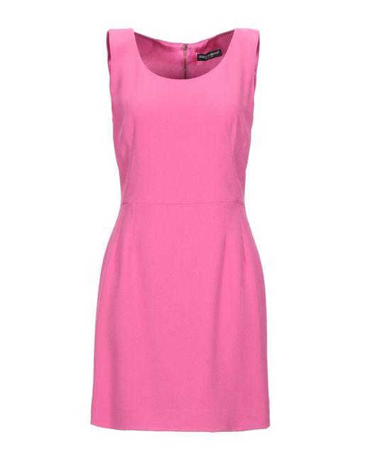 Vestito corto di Dolce & Gabbana in Pink