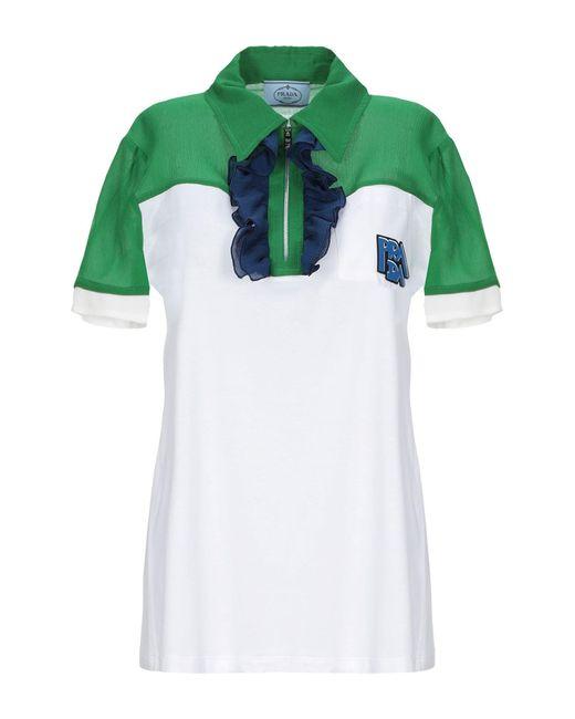 Prada Polo de mujer de color verde kH38P