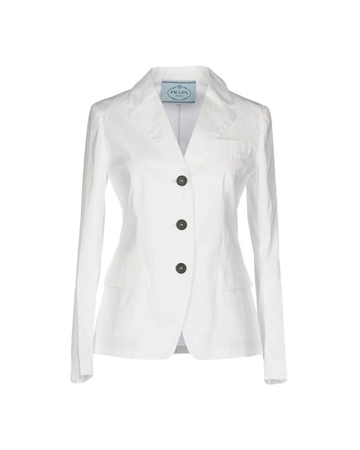 Prada White Suit Jacket