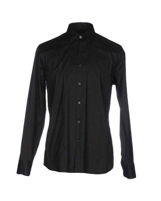 Prada - Black Shirts for Men - Lyst