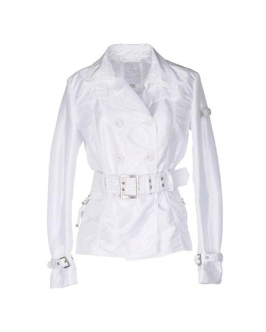 Peuterey | White Overcoat | Lyst