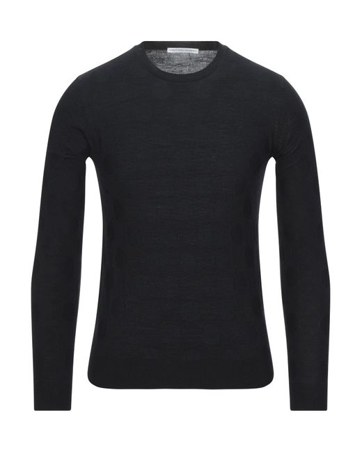 Grey Daniele Alessandrini Black Jumper for men