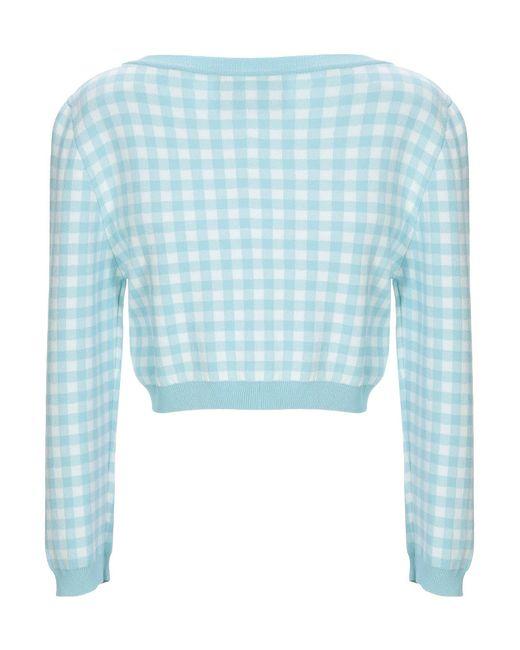 Boutique Moschino Blue Wickelpullover