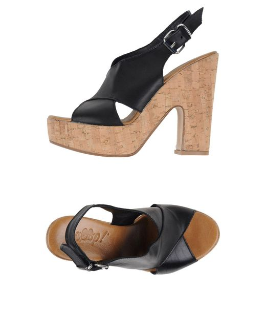 Scoop | Black Sandals | Lyst
