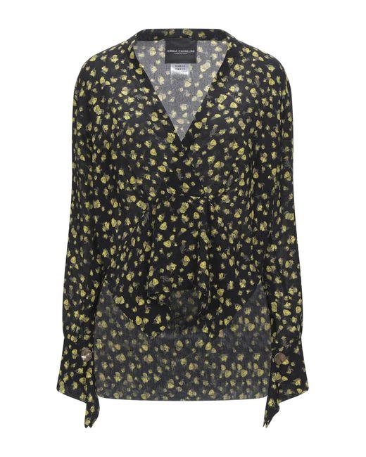 Erika Cavallini Semi Couture Black Bluse