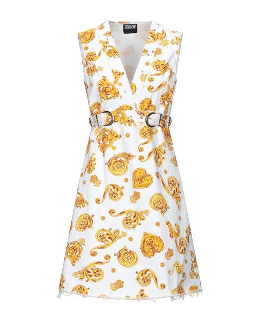 Versace Jeans White Short Dress
