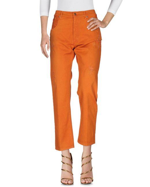 People Orange Denim Pants