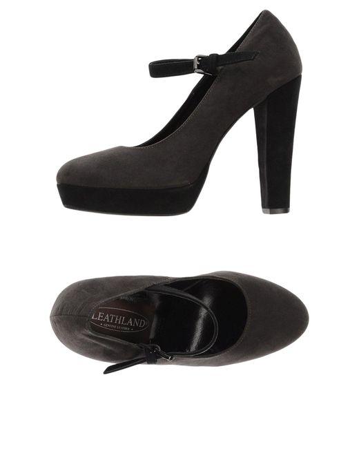 Leathland - Gray Sandals - Lyst