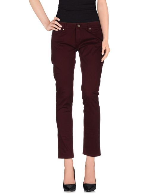 Blu Byblos - Red Casual Pants - Lyst