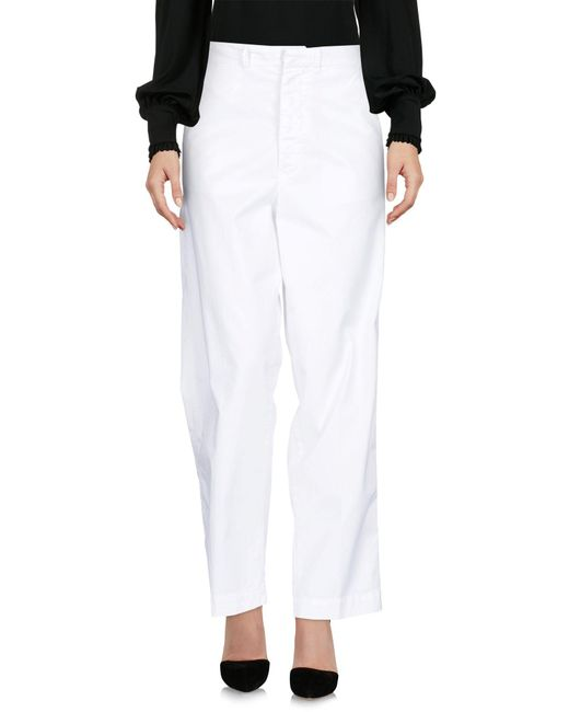 TRUE NYC White Casual Trouser