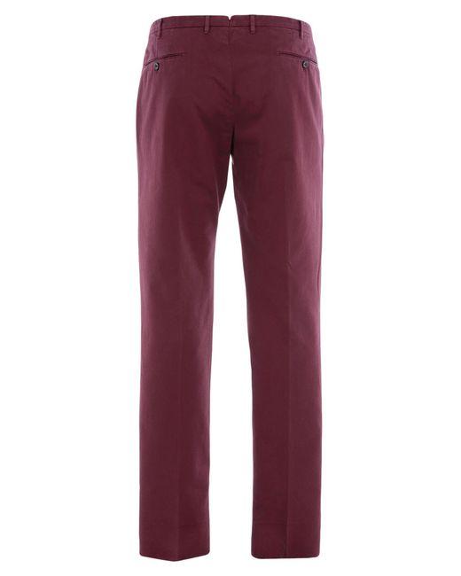 Incotex Pantalon homme de coloris rouge 1jrzf