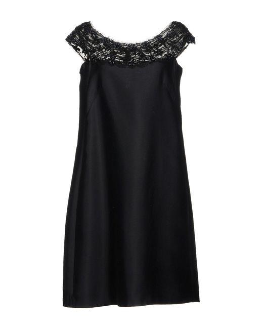 Alberta Ferretti Robe courte femme de coloris noir 3SLSa