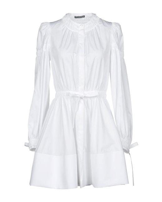 Alexander McQueen - White Short Dress - Lyst