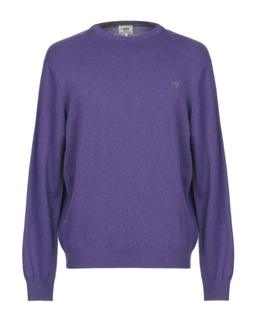 Pullover di Henry Cotton's in Purple da Uomo