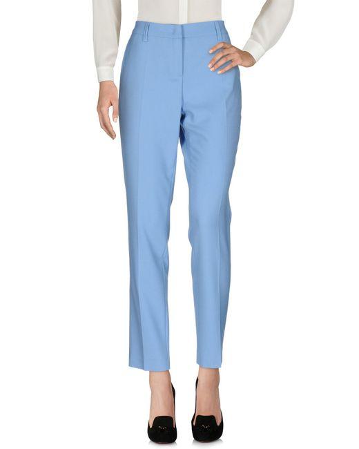 Blue Les Copains - Blue Casual Pants - Lyst