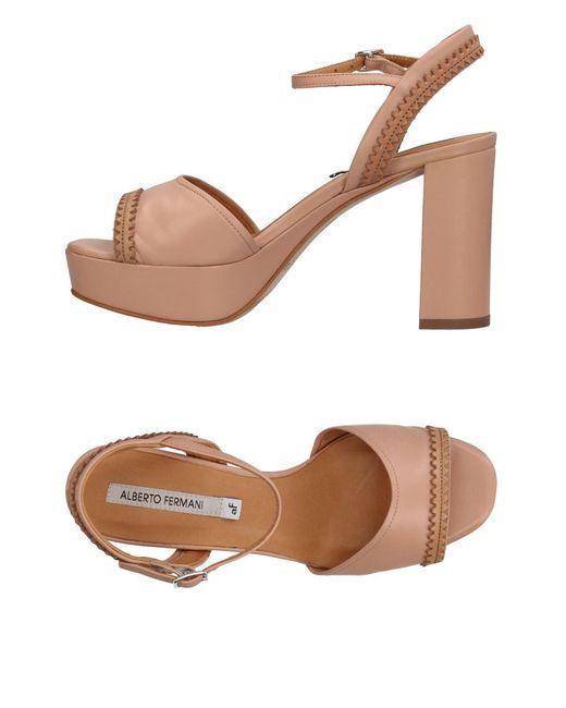 Alberto Fermani - Pink Sandals - Lyst