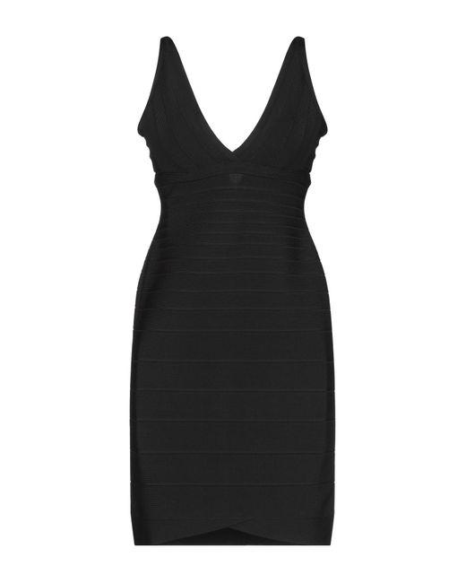 Robe courte Hervé Léger en coloris Black