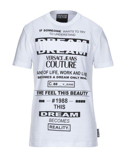 T-shirt di Versace Jeans in White da Uomo