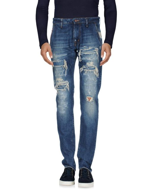 People Blue (+) People Denim Trousers for men