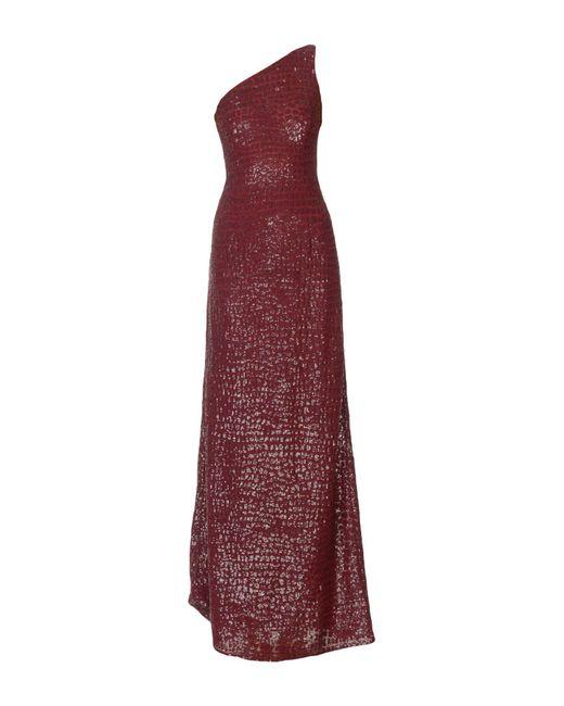 Michael Kors - Purple Long Dress - Lyst