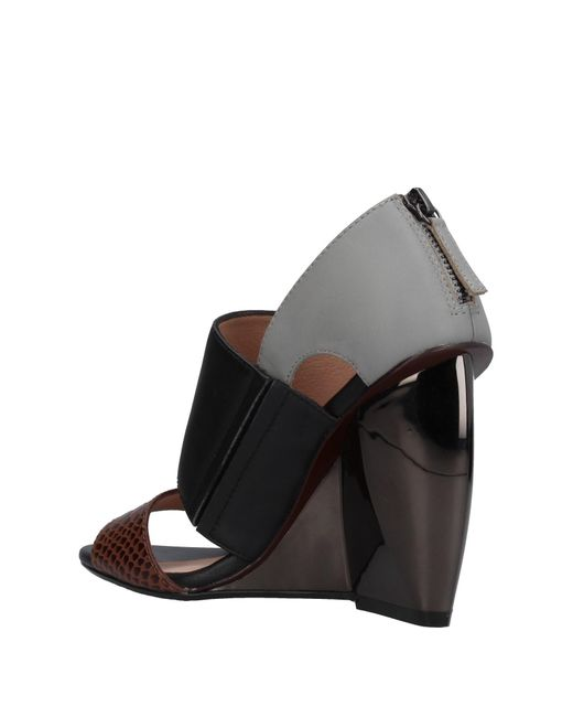 United Nude Leather Groovy Platform Sandals in Black - Lyst
