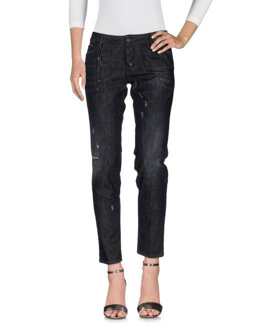 DSquared² - Black Denim Trousers - Lyst