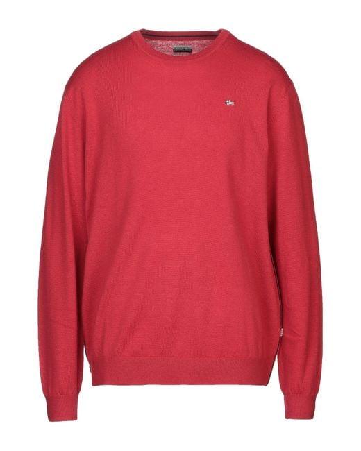 Napapijri Red Sweater for men