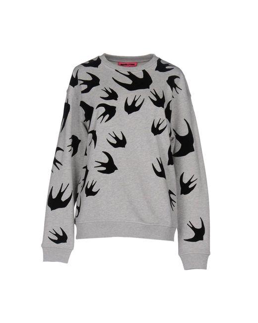 McQ Alexander McQueen Gray 'swallow' Sweatshirt