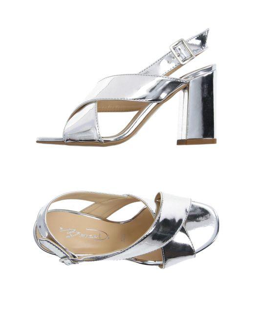 Bianca Di - Metallic Sandals - Lyst