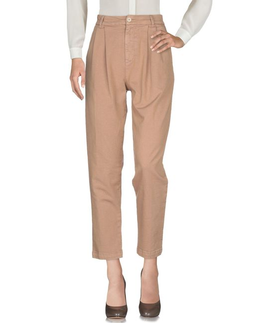 P.A.R.O.S.H. Pantalon femme de coloris neutre