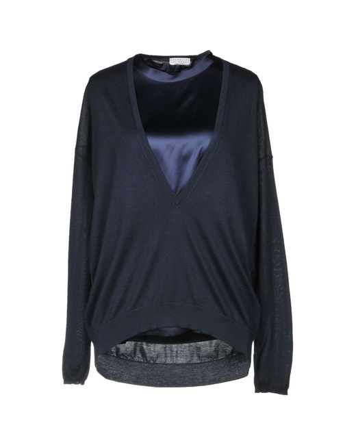 Brunello Cucinelli - Blue Sweaters - Lyst