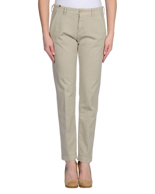 Notify - Natural Casual Pants - Lyst