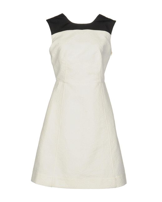 Tara Jarmon - White Short Dress - Lyst