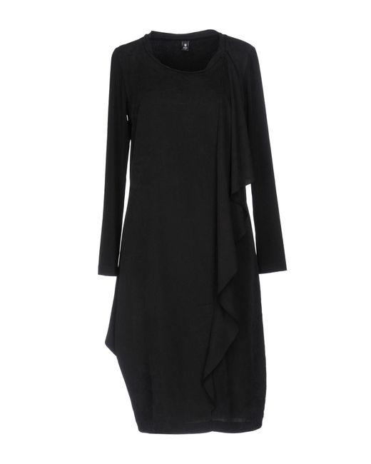 European Culture Black Knee-length Dress