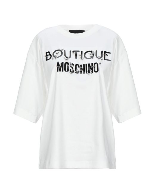Boutique Moschino Camiseta de mujer de color blanco QVCiu