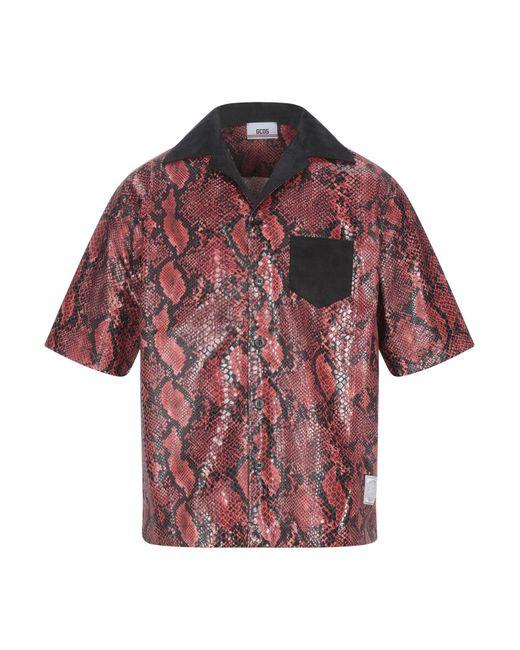 Camisa Gcds de hombre de color Red