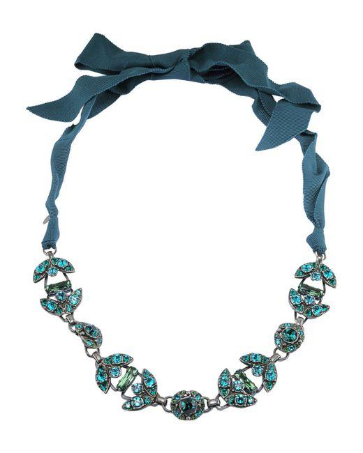 Lanvin - Blue Necklaces - Lyst